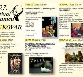 27. Festival glumca, Vukovar